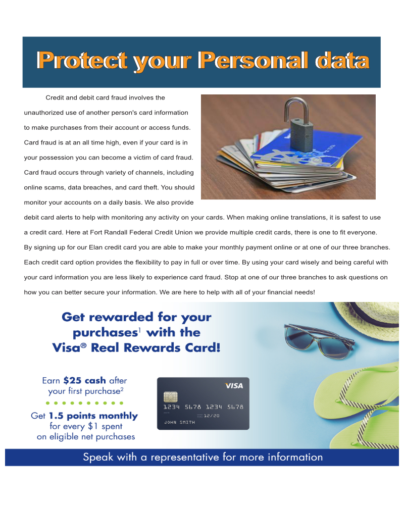 Personal card data